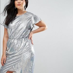 Disco queen silver sequin dress
